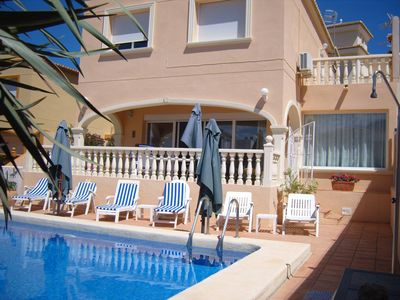 Photo for Luxury Family Villa with a Private Pool and Air Con in all 3 Bedrooms