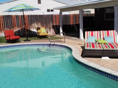 Photo for Private Home Open Floor Plan (3bed/2ba) with Solar Heated Pool