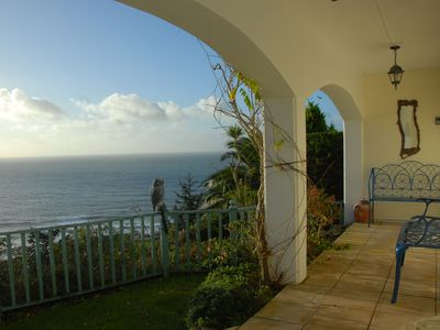 Photo for pet-friendly luxury house with stunning sea views, garden near beach and village