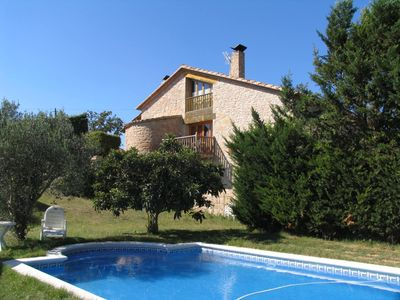 Photo for Comfortable house near Barcelona. Pool and private barbecue.