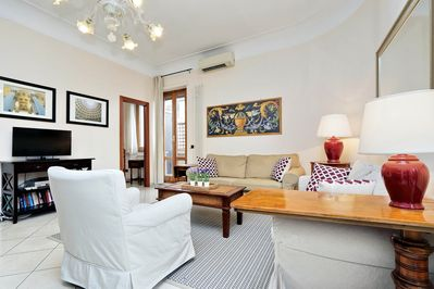 Enjoy relaxing at the comfortable and bright Flaminio apartment
