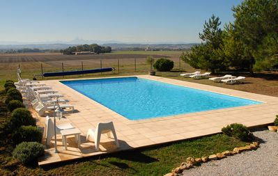 From the pool looking south to the Pyrenees