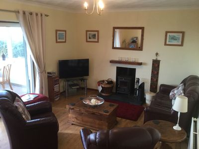 "Lounge with 40""tv, DVD player an multifuel stove"