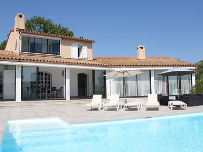 Photo for Large villa with private heated pool