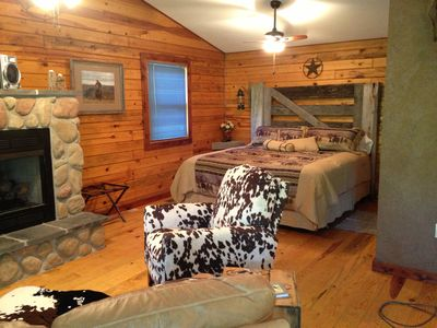 Photo for A Luxury King Suite Cabin in the Ozarks
