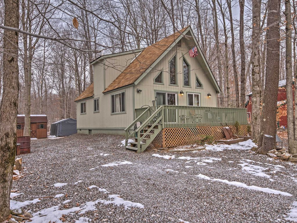 New 2br pocono lake cabin in gated community pocono for Lake cabin rentals pennsylvania