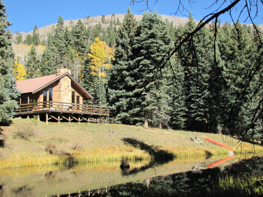 creek in secluded cabins fall main mountain the ranch cement cabin colorado rentals
