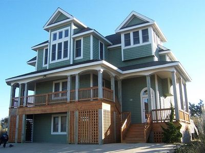 Photo for OWNER MANAGED!!   Semi-Oceanfront 8 BR in Waves, Sleeps 21!!
