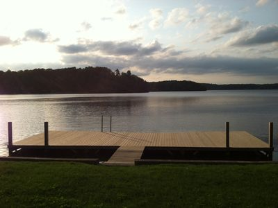 Serene private lakefront view