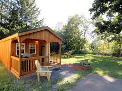 Photo for Cutest Cabin in Windham with fire pit & BBQ Grill, walk to restaurant & bar