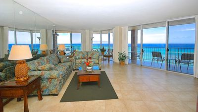 Incredible 270 degree corner view overlooking islands of Lanai and Molokai