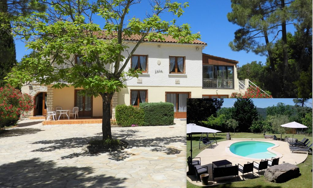 Big House With Swimming Pool big house in ardèche with swimming pool and a large garden and