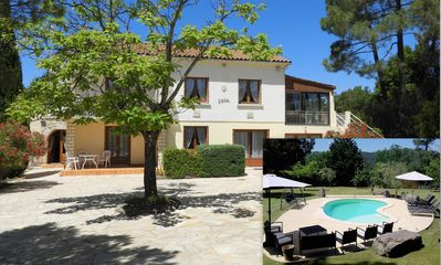 Photo for Big House in Ardèche with swimming pool and a large garden and