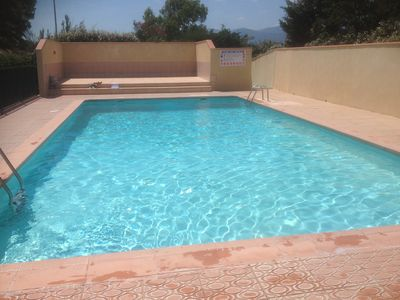 Photo for T2 mez 2 bedrooms + pool sea 300m promo June early July
