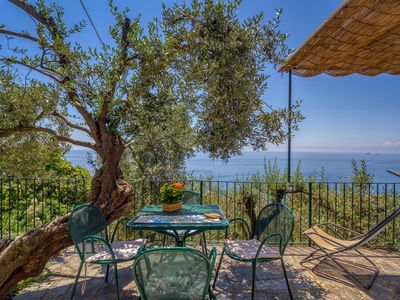 Photo for Gli Ulivi Home two-room apartment facing the sea with terrace on the floor and swimming pool