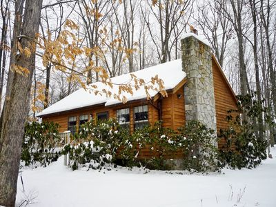 Photo for Three Bedroom Cabin On Wooded Lot Near Lake. Secluded, Family And Pet Friendly.