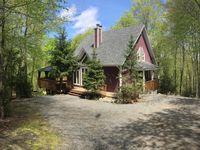 Beautiful house in the woods with nearby lake access. Great location for exploring the area.