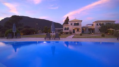 Photo for Private luxury villa with swimming pool sleeps 10-11 in Corfu Greece