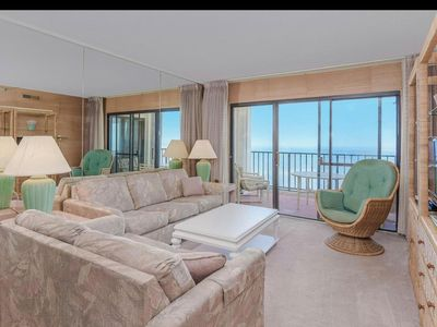 Photo for PANORAMIC ocean views from a private balcony - spectacular bayside sunset views!