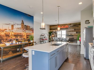 Photo for In Home Arcade + Rooftop Deck at 3 Story, Luxurious Home Close to Downtown!