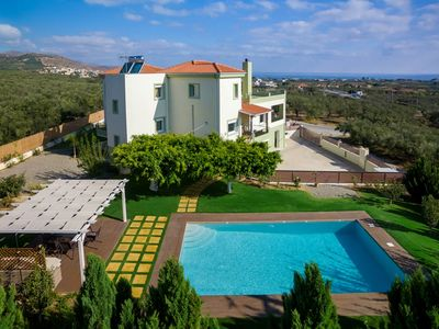 Photo for Villa Dimokratia - Private 3 Bedroom Villa 200sqrm with Pool and Sea Views