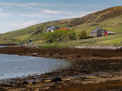 Photo for Detached spacious Isle of Lewis cottage in tranquil position with loch view