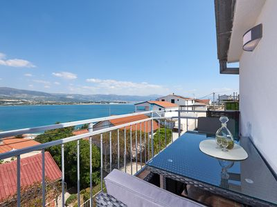 Photo for Lovely ❤ sea view apt for 2+1, beach at 250 m