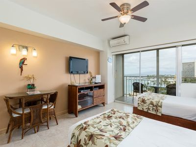 Photo for Easy Island Living w/Ocean View, Full Refrigerator, Free WiFi–Waikiki Shore #1104