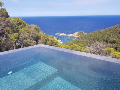 Photo for New contemporary villa - SA TUNA view, heated mirror pool and air conditioning