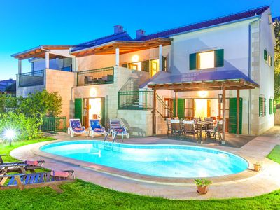 Photo for Superb villa with private swimming pool and garden on the coast of Croatian island
