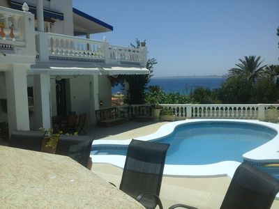 Photo for AMAZING DETACHED VILLA  WITH A/C,14 PERSONS, PRIVAT POOL, WIFI, SEAVIEW, BBQ