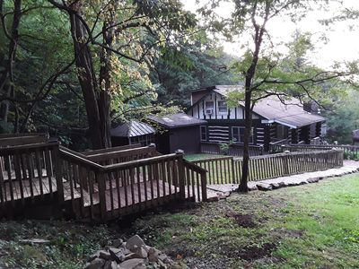 Mountain cabin with high elevation with Creek and waterfall frontage