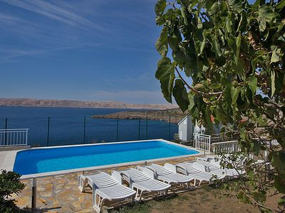 Photo for Apartment Valentina with pool and stunning sea views DIRECTLY on the beach