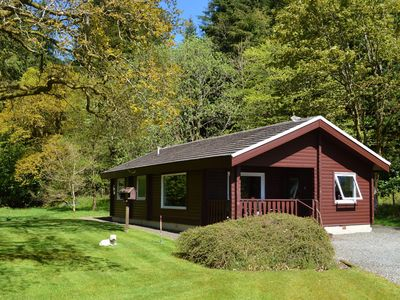 Photo for Private lodge in scenic surroundings beside botanical gardens near Dunoon