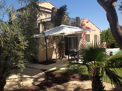 Photo for Charming Villa in a quiet area with garden, pool near downtown and beaches
