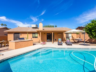 Photo for Chic Scottsdale 3 Bedroom, 3 Bath with Sparkling Heated Pool