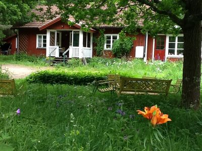 Photo for BEAUTIFUL HOUSE IN MY BEAUTIFUL NATURAL SKOGS, MEANS. swimming lakes