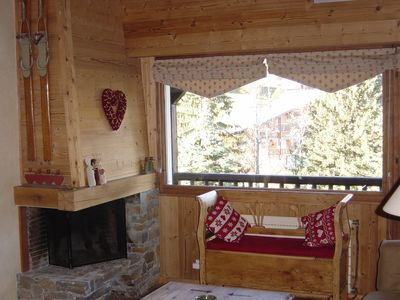 Photo for Charming apartment in a chalet at la Clusaz