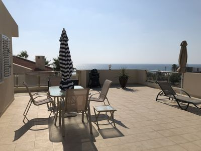 Photo for PENTHOUSE, VIEWS,  WIFI, TWO BEDROOMED PENTHOUSE! LARGE BALCONY, SUNSET VIEWS