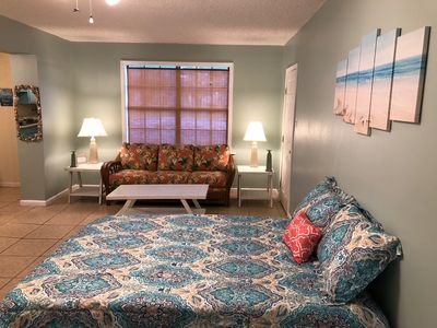 Photo for A beach themed studio apartment that sleeps up to 4