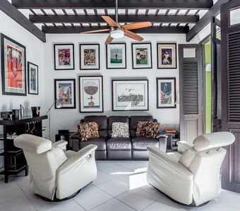 Living Area filled with folkloric art