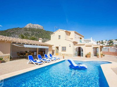 Photo for 5 bedroom Villa, sleeps 9 with Air Con, FREE WiFi and Walk to Beach & Shops