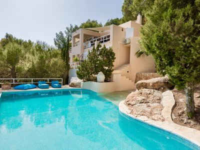 Photo for Villa with spectacular sea view, walking distance to beach and famous restaurant