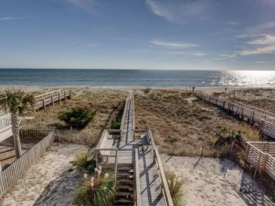 Photo for Dolphin View - Relaxing oceanfront home in Kure Beach NC