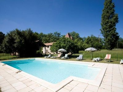 Photo for House with character, on the edge of the forest, with heated pool, 8 people