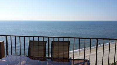Large 4oo sq ft. balcony ocean front view.