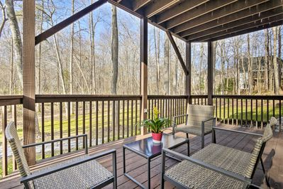 With a furnished deck, this Cary home has it all!
