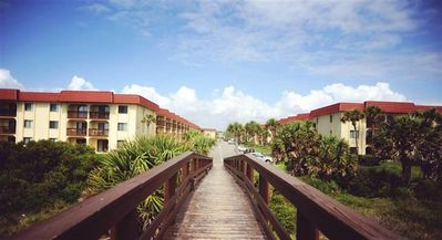 Walkway from the Beach to Complex