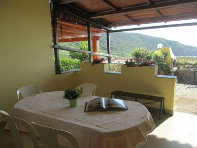 Photo for Porto Alabe: Lovely sea view from the veranda. Good for family! Vacant from 15 September!