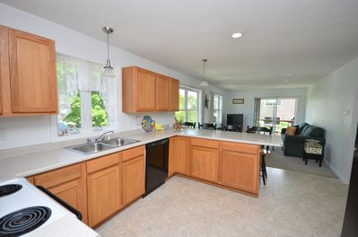 OPEN KITCHEN FAMILY ROOM WITH OCEAN VIEW